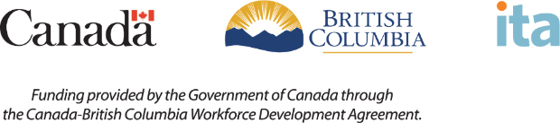 Logos for the Government of Canada, British Columbia and ITA