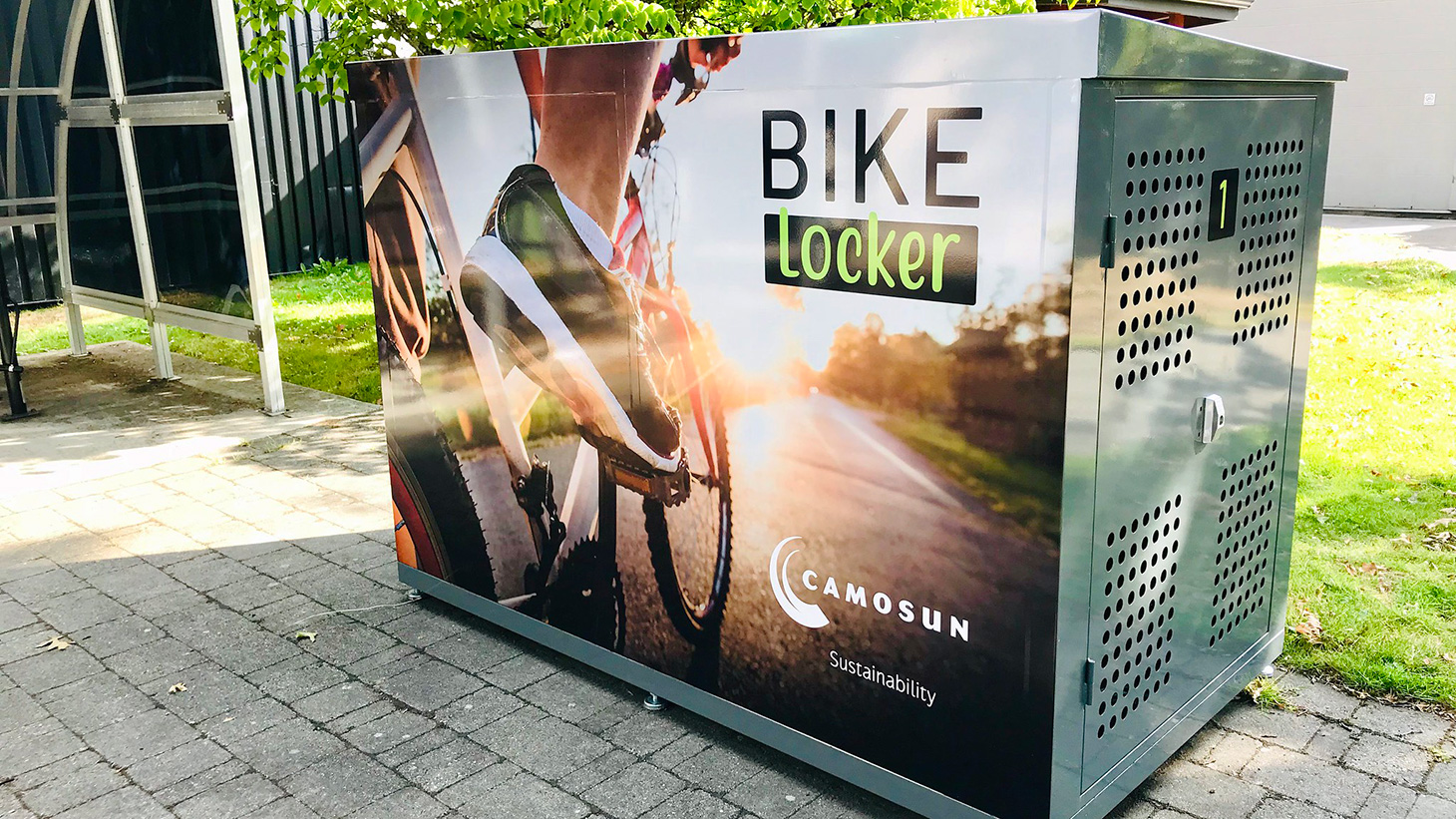 protected bike storage locker