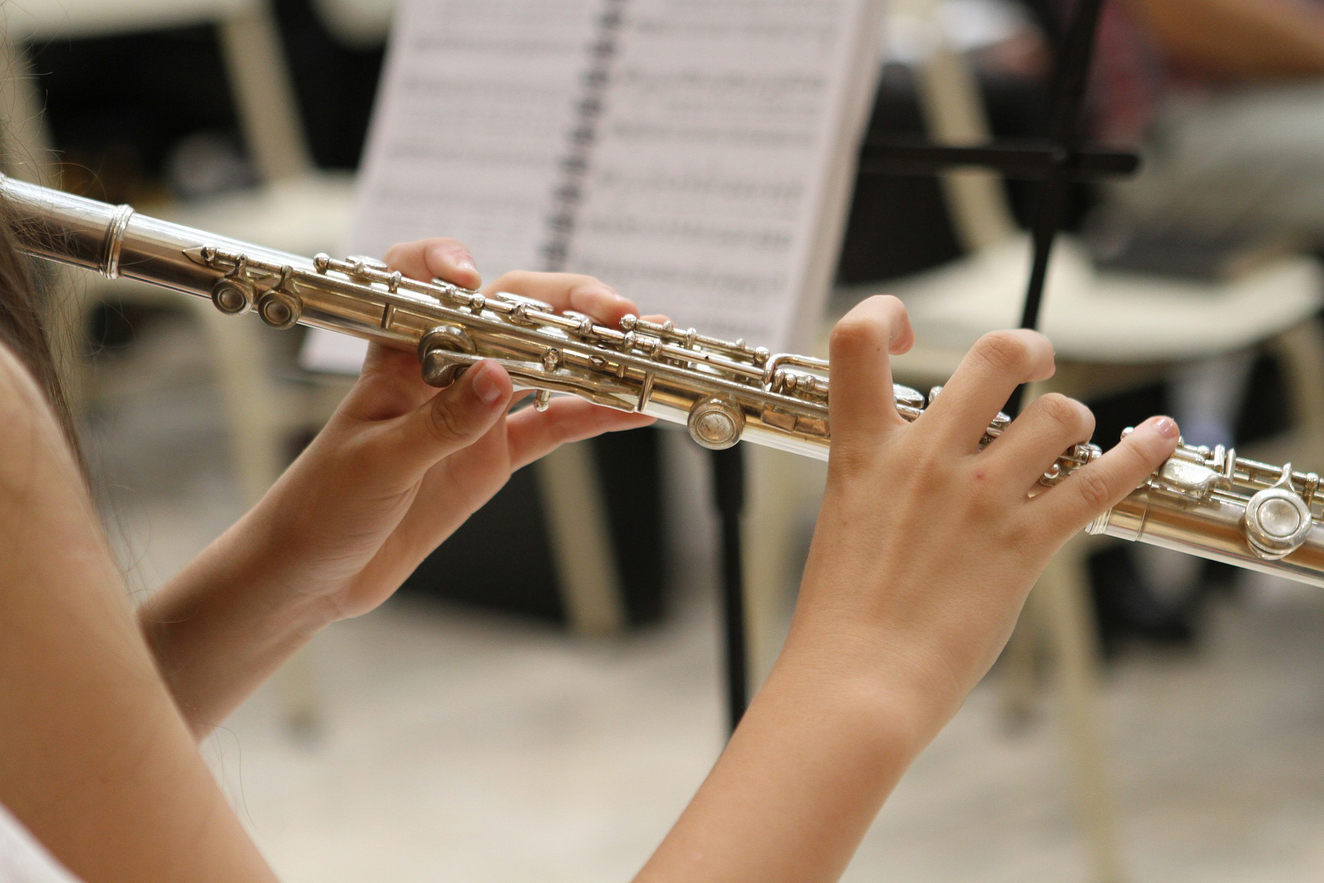 Music Performance students playing clarinet