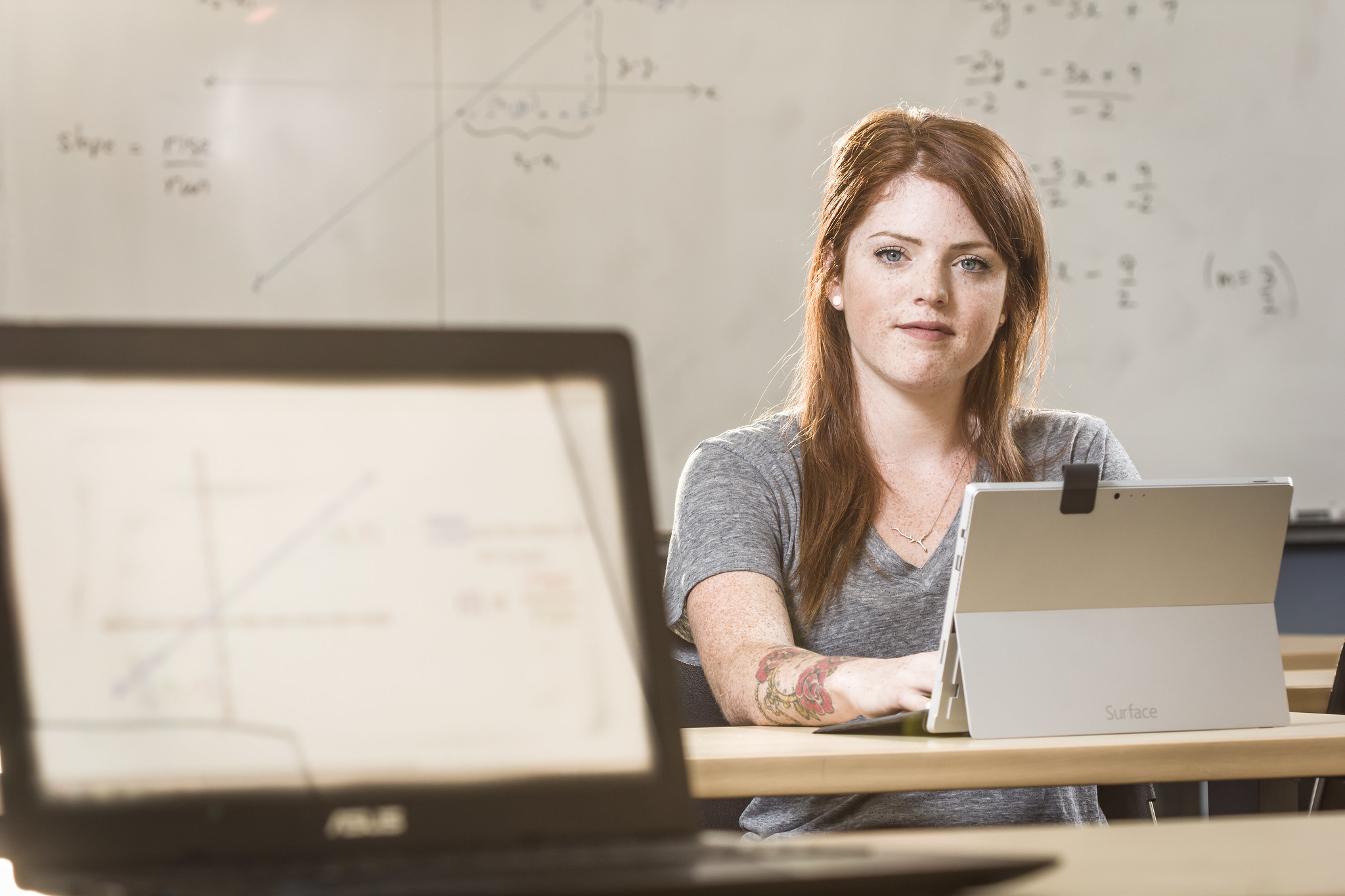 Upgrading female math student